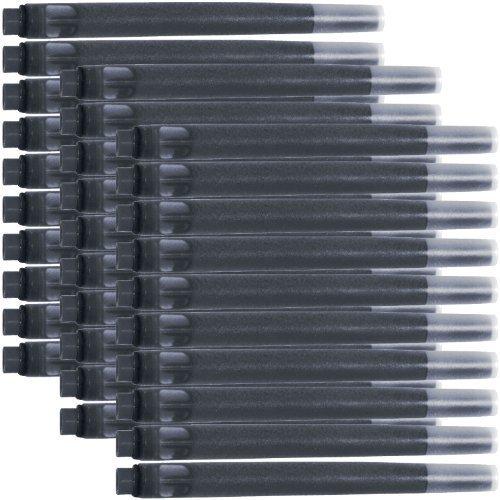 Parker Quink Permanent Ink Fountain Pen Refill Cartridges, 30 Black Ink Refills (3011031PP)