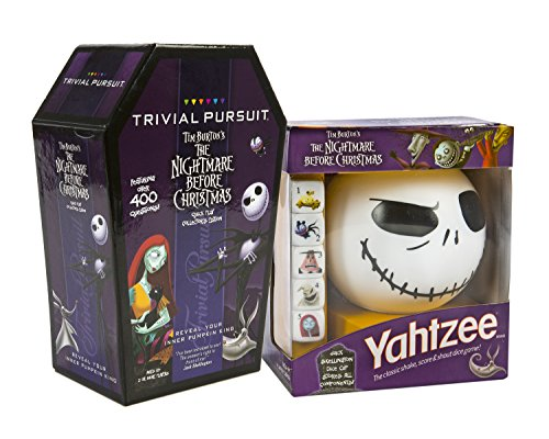 Maven Gifts: The Nightmare Before Christmas: Trivial Pursuit and Yahtzee (Coffin Shaped Halloween Gift Box)