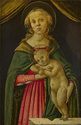 High Quality Polyster Canvas ,the Replica Art DecorativePrints On Canvas Of Oil Painting 'Follower Of Sandro Botticelli - The Virgin And Child,about 1485-1500', 20x31 Inch / 51x78 Cm Is Best For Home Theater Gallery Art And Home Decor And Gifts
