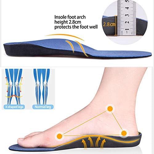 Houer Arch Support Orthesen Einlegesohlen für Füße Bequemes Plüschtuch Flache Füße Orthopädische Einlegesohlen Fußpolster, EU 41 bis 43 Größe M.