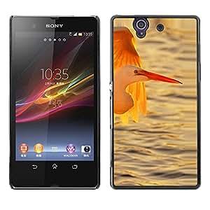 For Sony Xperia Z / L36H / C6602 / C6603 / C6606 / C6616 Case , Stork Ocean Sun Sunset Summer - Diseño Patrón Teléfono Caso Cubierta Case Bumper Duro Protección Case Cover Funda