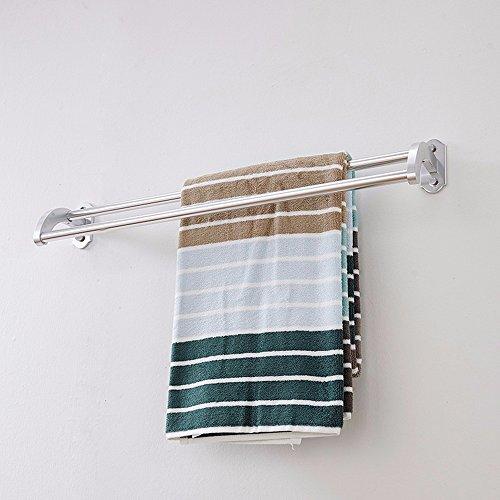 Aluminum Alloy 50cm Space Double Holder Towel Rails - 8