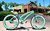 Cheap 26×4 Fat Tire Beach Cruiser Bike – SOUL MISS STOMPER – MINT GREEN 3 speed ladies