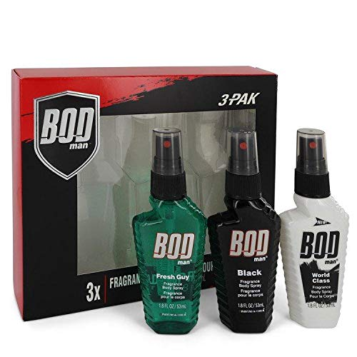 Bod Man Set Includes Fresh Guy, Black and World Class all in 1.5 oz Body Sprays