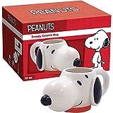 ICUP Peanuts Snoopy Molded Head Ceramic Mug, Clear