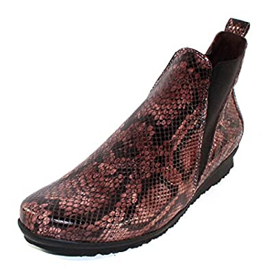 Arche Women's Barzo In Stone Alison Embossed Snake Printed Patent Leather - Brown - Size 36 M