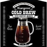 Kungroo Airtight Glass Cold Brew Iced Coffee Maker Pitcher Pot , 1 Quart