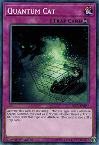 Yugioh 1st Ed Quantum Cat SDCL-EN037 Common 1st Edition Cyberse Link (En037 Common Card)