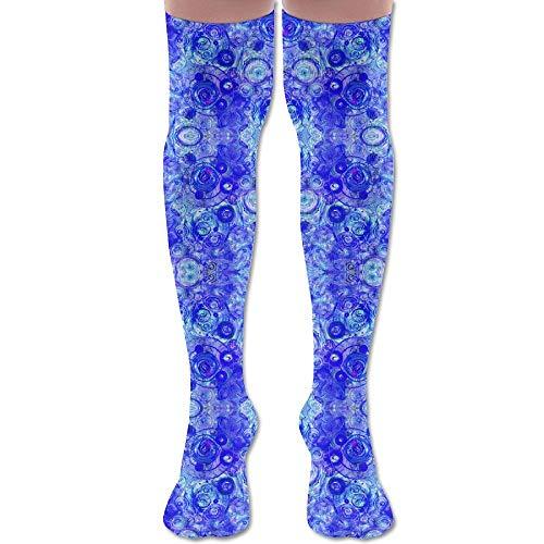 Cobalt Counterpoint Wallpaper (3928) Athletic Tube Stockings Women's Men's Classics Knee High Socks Sport Long Sock