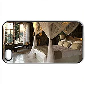Beautiful Room - Case Cover for iPhone 4 and 4s (Houses Series, Watercolor style, Black)