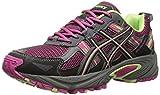 ASICS Gel Venture 5 GS Trail Running Shoe (Little Kid/Big Kid), Pink Glow/Pistachio/Black, 4 M US Big Kid