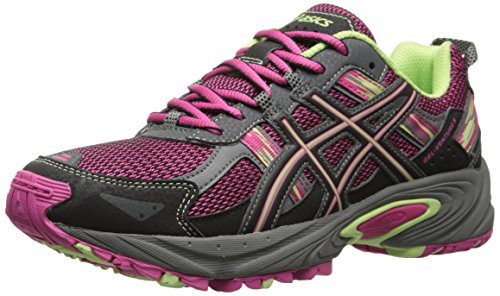 ASICS Gel Venture 5 GS Trail Running Shoe (Little Kid/Big Kid), Pink Glow/Pistachio/Black, 4 M US Big Kid by ASICS