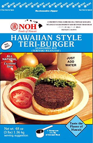 - NOH Foods of Hawaii Style Teri-Burger Seasoning Mix, 3 Pound (Pack of 5)