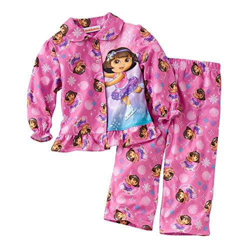 Dora the Explorer Toddler Girl's Ice Skating Pajama Set - 3T
