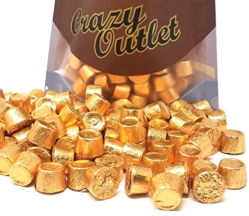 Rolo Chewy Caramel Chocolate Candy, Copper Foil Wrap, Wedding Gold Candy, 2 lbs ()