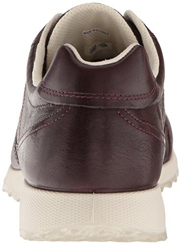 Femme Ladies Sneakers Rouge Bordeaux Basses Ecco CAqxwOf