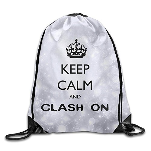 YYHU Keep Calm And Clash On Sackpack Rucksack Shoulder Bags Sport Gym Bag - Great For Travel And Everyday Life