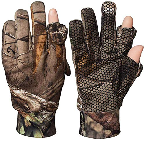 SHAWINGO Camouflage Hunting Gloves Camo Tactical Paintball Shooting Archery Gloves(L)