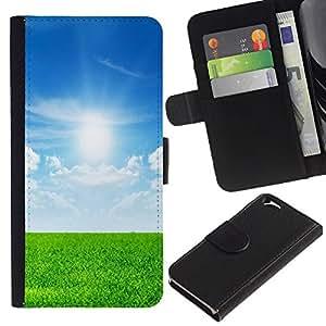 All Phone Most Case / Oferta Especial Cáscara Funda de cuero Monedero Cubierta de proteccion Caso / Wallet Case for Apple Iphone 6 // Nature Field Sunshine