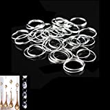 Bonayuanda 200pcs Stainless Steel Split Ring Double Loops Jump Rings Key Rings 12mm for Crystal Lamps, Crystal Curtain, Crystal Garland, Necklaces, Keys, Earrings, Jewelry Making