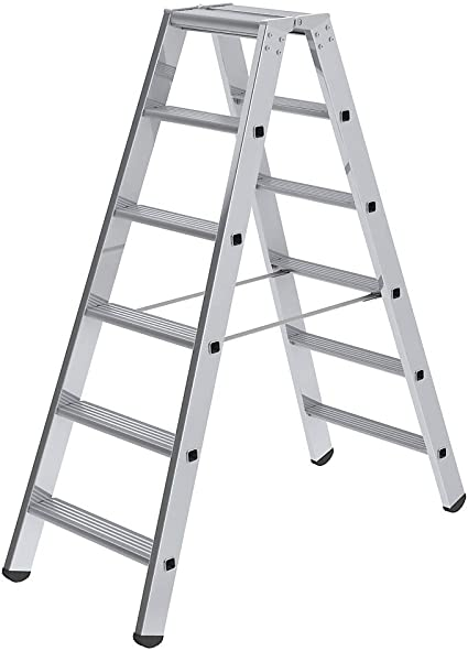 Escalera de marchas doble cara – Modelo Estándar – 2 x 6 peldaños – escalera – escalera de peldaños escabeaux