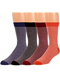 Non Sweat Mens Crew Socks - Ultra Soft Viscose Bamboo Moisture Wicking -By Zeke