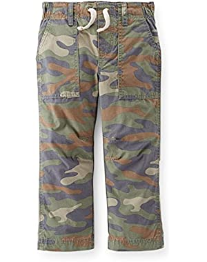 Boy's Cammo Lined Woven Ripstop Pants