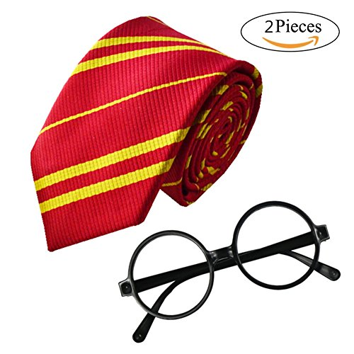 MISG School Tie and Novelty Glasses Frame For Kids Teens, Cosplay Costumes accessories For Halloween and Christmas