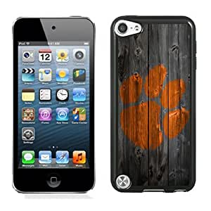 Fashionable And Unique Designed With NCAA Atlantic Coast Conference ACC Footballl Clemson Tigers 7 Protective Cell Phone Hardshell Cover Case For iPod 5 Phone Case Black