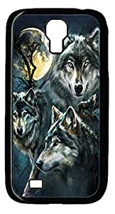 Samsung Galaxy S4 I9500 Case Samsung Galaxy S4 I9500 Cases Moon Wolves Collage Polycarbonate Hard Case Back Cover for Samsung Galaxy S4 I9500 Black