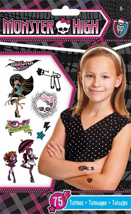 Monster High Temporary Tattoos - 75 -