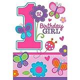 Amscan Sweet Girl First Birthday Invitations & Envelopes