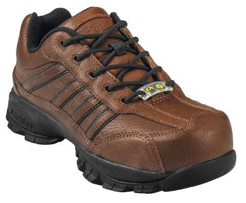 (Nautilus Men's Steel Toe ESD Oxfords,Brown,15 W)
