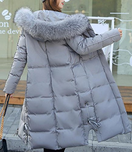 Jackets amp;S Fur Puffer amp;W Women's M Collar Winter Gery Parka Down fwzqqdFn