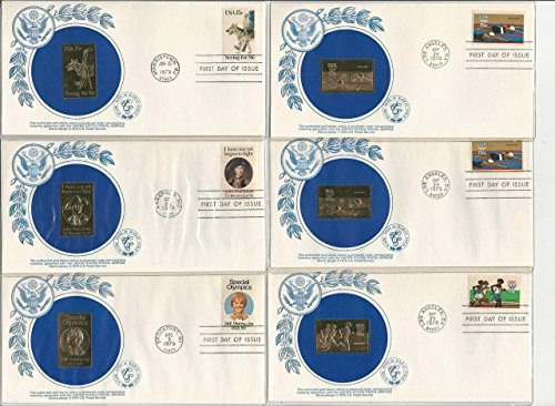 United States Collection of Gold Foil First Day Covers, 28 Different, 1979 (Foil First Day Cover)