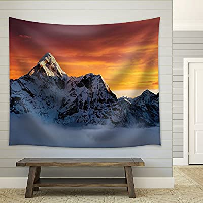 Quality Artwork, Stunning Style, Sun Rising Behind Mountains Covered with Snow