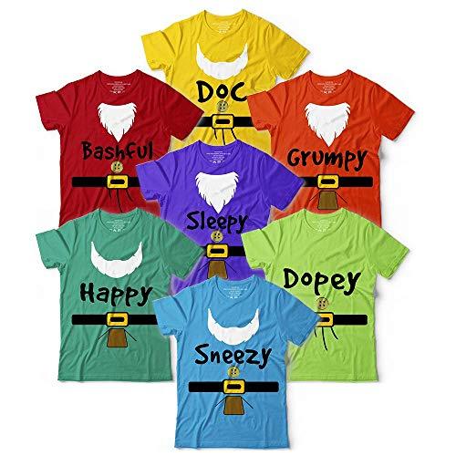 Doc Happy Sleepy Dopey Grumpy Bashful Sneezy Seven Dwarfs Characters Halloween Costume Matching Outfit Family Friends Groups Customized Handmade T-shirt/Long Sleeve/Hoodie/Tank Top/Sweatshirt]()