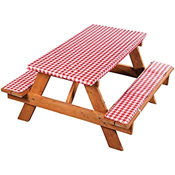 3 Piece Fitted Picnic Table /\u0026 Bench Seat Cover Set SUMMERTIME COOKOUT Elastic Fit Patio Tablecloth unbranded  sc 1 st  peean & 3 Piece Fitted Picnic Table /\u0026 Bench Seat Cover Set SUMMERTIME ...