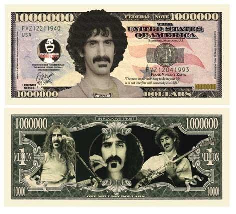 Price comparison product image American Art Classics Set of 50 - Frank Zappa Million Dollar Bill