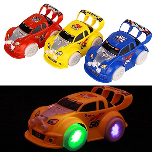 [New Funny Flashing Music Racing Car Electric Automatic Toy Boy Kid Birthday Gift] (Abc Party Costume Ideas)