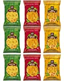 Inka Plantain Chips Variety Pack Sampler, Large Family Size Bags, 3.25 Ounce by Variety Fun (9 Count)