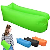 Inflatable Lounger, Portable Air Beds Sleeping Sofa Couch for Travelling, Camping, Beach, Park, Backyard