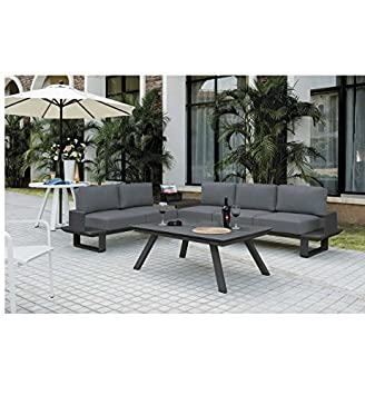 Amazon.de: Sacramento Salon-Garten Sofa anthrazit