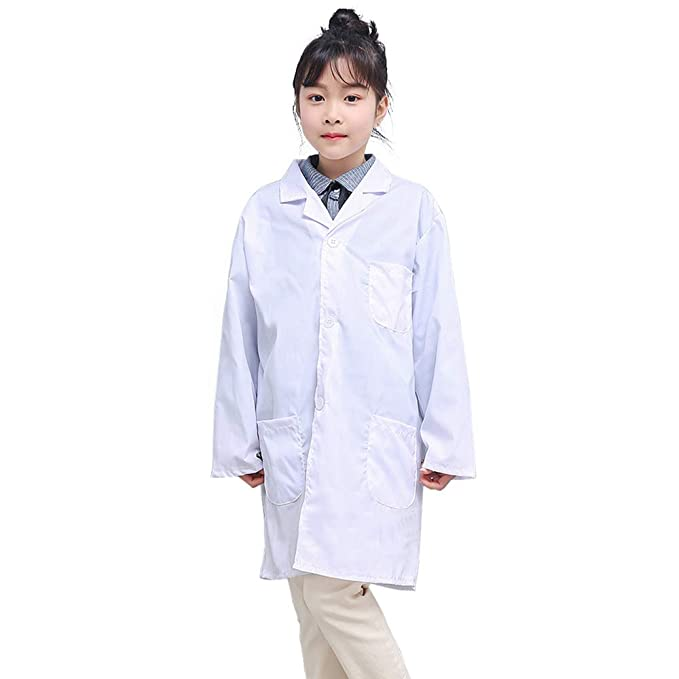 Amazon Com Kids Scrubs Lab Coat Long Sleeve Scientists
