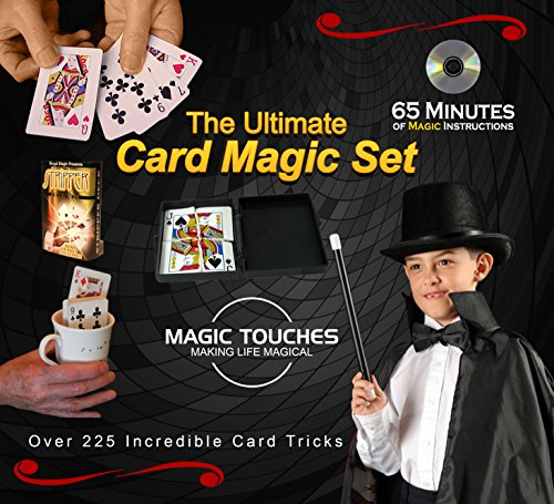 MAGIC CARD TRICKS SET - The Ultimate Card Magic Tricks Set for Kids and Grown-ups Alike - Over 300 Incredible Card Tricks Revealed and Explained in This Amazing Magic Set - This Ultimate Card Magic Kit is Made in USA and Includes a Special 65 Minute Card Tricks DVD Tutorial.