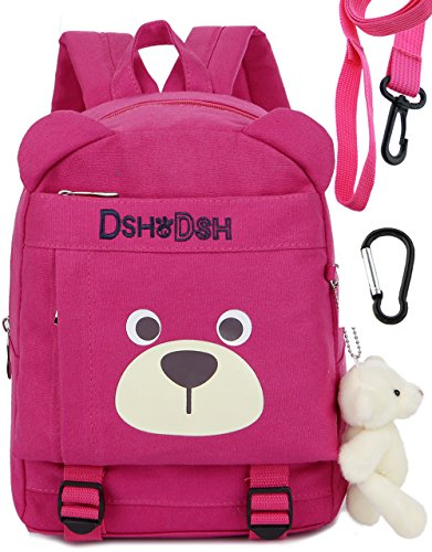 Kids Personalized Luggage - Toddler Kid Backpack Organizer Harness Leash Daycare for School Bags Girls(Pink)