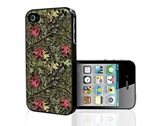 Green and Pink Girl Camouflage Hard Snap on Phone Case (iPhone 4/4s)