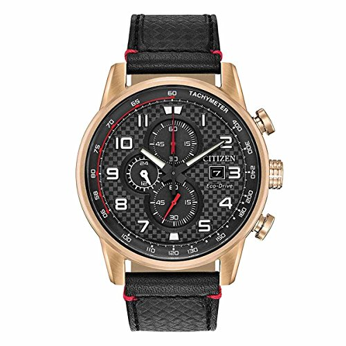 - Citizen Men's Eco-Drive Stainless Steel Japanese-Quartz Watch with Leather Calfskin Strap, Black (Model: CA0683-08E)