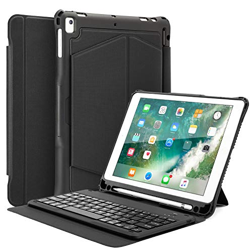 Fansteck iPad 9.7 Keyboard Case - iPad Keyboard Case for iPad 2018 (6th Gen) - iPad 2017 (5th Gen) - iPad Pro 9.7 - iPad Air 2&1- Removable Case and ()