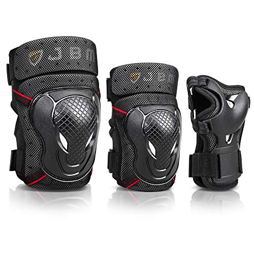 JBM Adult BMX Bike Knee Pads and Elbow Pads with